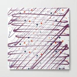 Maroon Splatter Pattern Metal Print