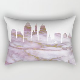 Cincinnati Skyline Ohio Rectangular Pillow