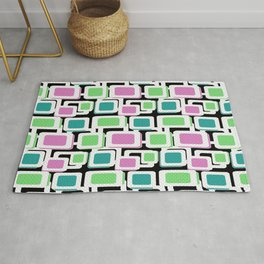 Multicolored abstract pattern . Rug