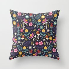 Ditsy Flowers Throw Pillow