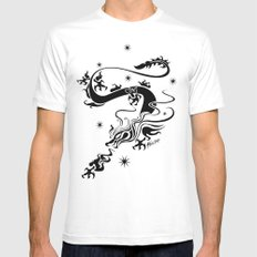 Black Dragon MEDIUM Mens Fitted Tee White