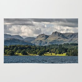 The Langdale Hills from Windermere, Lake District Rug