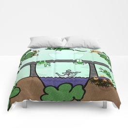 Troll family lives under the bridge Comforters