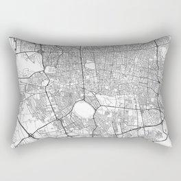 Teheran Map Line Rectangular Pillow