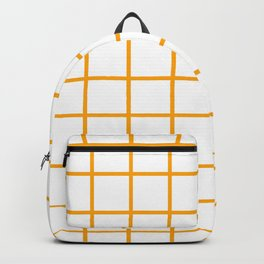 GRID DESIGN (ORANGE-WHITE) Backpack