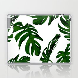 Simply Tropical Palm Leaves in Jungle Green Laptop & iPad Skin