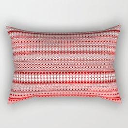 Tribality Red Texture Rectangular Pillow