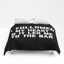 Led Me To Bar Funny Quote Comforters