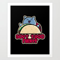Soft Taco Night Art Print