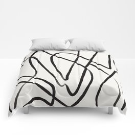Line Drawing Print, Continuous Wall Art, Couples Gifts, Line Wall Art, Modern Art, Abstract Line Art Comforters