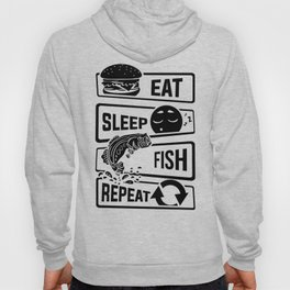 Eat Sleep Fish Repeat - Fishing Fisherman Hoody