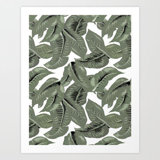 Tropical Leaves Art Print