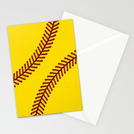 Fast Pitch Softball Stationery Cards