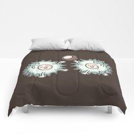 Kawaii Cute Horse Chestnut Playing Comforters