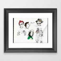 Hipster Dykes  Framed Art Print
