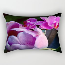 Purple Tulip With Baby Moths Rectangular Pillow
