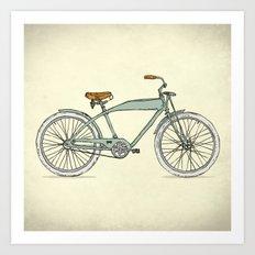 Retro-bicycles (1903) Art Print