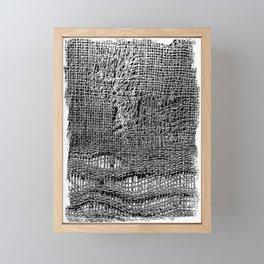 Old Fabric Fibers-Distressed-Torn Cloth-Ripped Framed Mini Art Print