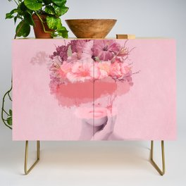 Woman in flowers Credenza