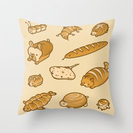 Live, Laugh, Loaf Pattern Throw Pillow