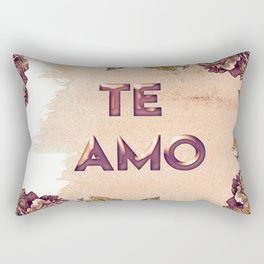 te amo floral art Rectangular Pillow