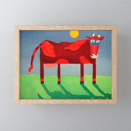 Udderly Confused - Funny Cow Art Framed Mini Art Print