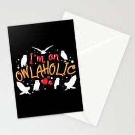 I'm An Owlaholic - Funny Owl Lover Gift Stationery Cards