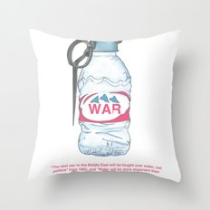 water bottle grenade  Throw Pillow