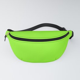Solid Chartreuse Bright Neon Green Color Fanny Pack