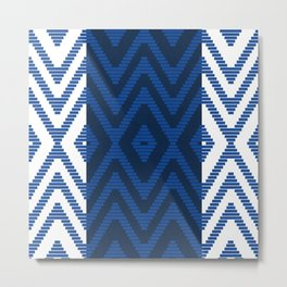 Rattan in Blue Metal Print