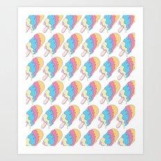 Popsickle Pattern Art Print
