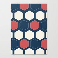 Hexed Navy Canvas Print