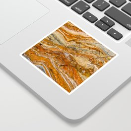 Orange Rock Texture Sticker
