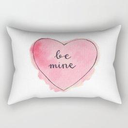 Watercolor BE MINE Heart Rectangular Pillow