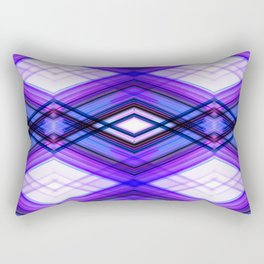 Technologic  - Ultra Violet Minimal Geometric Abstract Rectangular Pillow