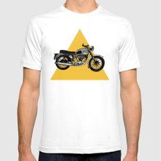 Let's Ride Mens Fitted Tee LARGE White