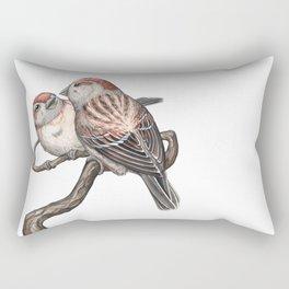 American Tree Sparrow (Spizella arborea) Rectangular Pillow