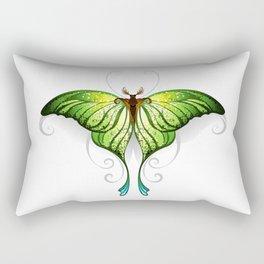 Green Butterfly Rectangular Pillow