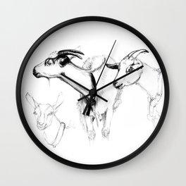 goats sk124 Wall Clock