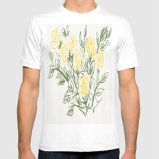 Yellow Roses MEDIUM Mens Fitted Tee White