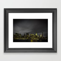 Welcome to Gotham Framed Art Print