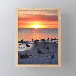 Shore Birds Framed Mini Art Print