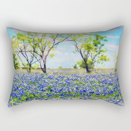 Bluebonnet Texas Rectangular Pillow