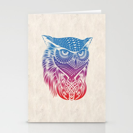 Owl of Color Stationery Cards