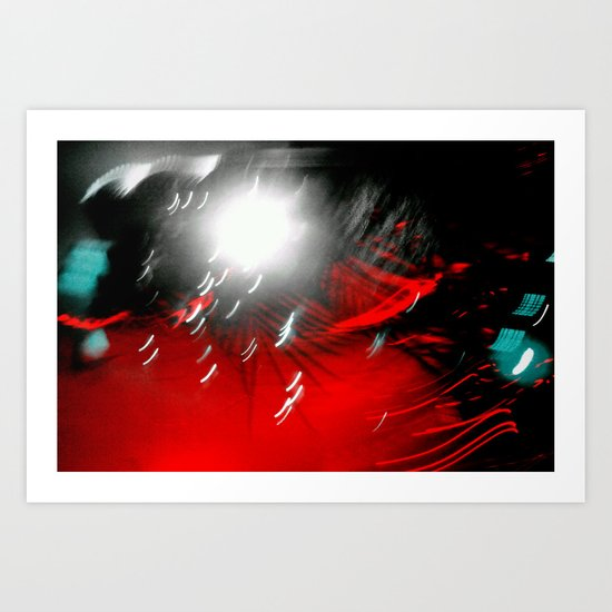 Red Flash with a Little Bit of You Art Print