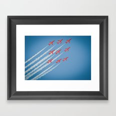 RAF Red Arrows #1 Framed Art Print