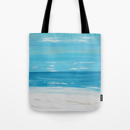 Beachfront Seascape Tote Bag