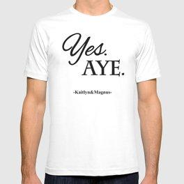 Yes. Aye. T-shirt