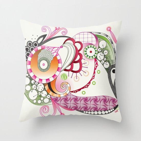 Autumn tangle Throw Pillow