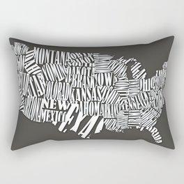 USA TYPOGRAPHY MAP Rectangular Pillow